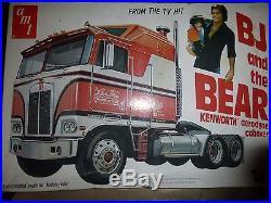 VINTAGE AMT BJ AND THE BEAR KENWORTH AERODYNE CABOVER MODEL CAR MOUNTAIN KI OPEN