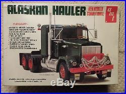 VINTAGE AMT KEWORTH COVENTIONAL ALASKAN HAULER 1/25 SCALE PLASTIC MODEL T511