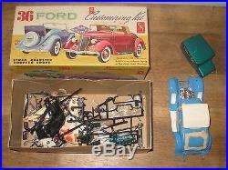 Vintage Amt Model Lot 62 Apache Pickup 36 Ford 1925 Model T Parts + Box