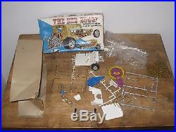 Vintage Amt Model Lot Cherry Bomb Snoopy Sopwith Camel Bed Buggy Parts + Box