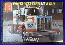 VINTAGE AMT White Western Star Model Truck Kit 1/25 Scale T546