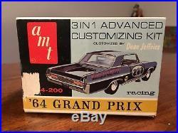 VINTAGE NIB SEALED AMT 1964 Pontiac GRAND PRIX 3-in-1 Annual Kit 6654 Model Kit