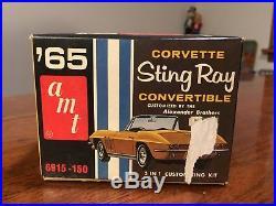 VINTAGE NIB SEALED AMT 1965 Corvette STING RAY CONVERTIBLE Model Kit 6915