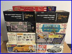 Vintage Original 1/25 Scale Junkyard Lot 1960's Kits Unbuilt Amt, Mpc, Revell