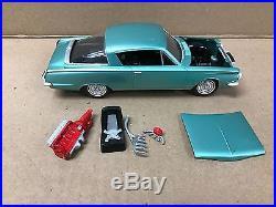 Vintage Original Amt 1/25 Scale 1965 Barracuda Built Model