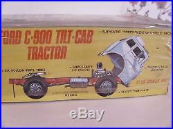 Vintage Rare! Amt Ford C-900 Transporter Set 1/25 Model Truck Kit