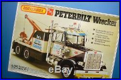 VINTAGE RARE MATCHBOX AMT PETERBILT WRECKER 125 Model Kit