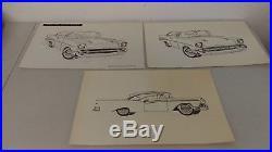 VTG 1960's AMT Models Automotive Illustrator's Paint By Number Set MIB Mint