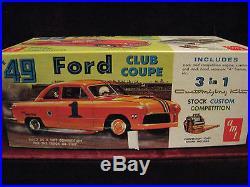 VTG'49 Ford Club Coupe Model/Kit AMT USA T149 3in1 Pristine Time Capsule Kept