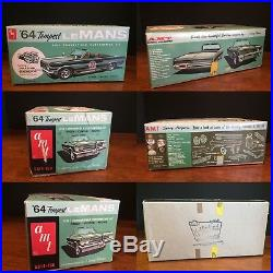 VTG AMT 1964 Pontiac Tempest LeMans Customizing Convertible Model Kit 5614-150