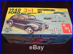VTG Orig'60 1940 Ford Tudor Sedan 3in1 Model/Kit AMT USA 240 Time Capsule Kept