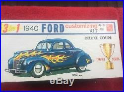Vintage 1960 NOS AMT 1940 Ford 3 In 1 Trophy Series Customizing Kit