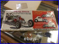 Vintage 1960's AMT Double Dragster Sealed Model Car Kit Original Box