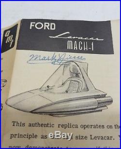 Vintage 1960s AMT issue Ford Leva Car Levacar built in original box Model RARE