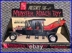 Vintage 1964 The Munsters Koach Car Toy In Box AMT Complete George Barris