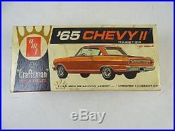 Vintage 1965 Chevy II Hardtop Dealer Promo Model Kit Car Craftsman Series AMT