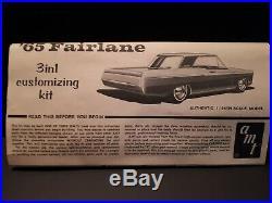 Vintage 1965 Ford Fairlane AMT Stock Car Model Kit STP Firestone Toy Vehicle