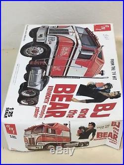 Vintage 1980 AMT BJ and The Bear Kenworth Aerodyne Cabover Model Kit UNBUILT