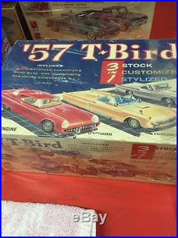 Vintage 1/25 1957 Ford Thunderbird AMT 3n1 kit Rare 60s unbuilt all there Rare