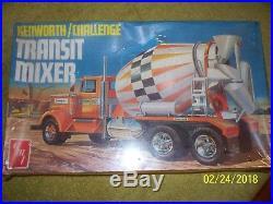 Vintage 1/25 AMT Kenworth Challenge Transit Mixer, sealed