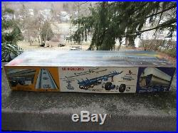 Vintage 1/25 Scale AMT Fruehauf Plated Sunoco Tanker Semi Trailer- Model Kit
