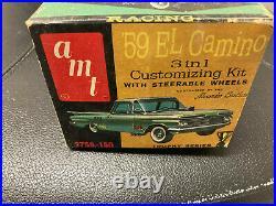 Vintage 59 El Camino 1.25 Scale unbuilt KIT opened Box Box