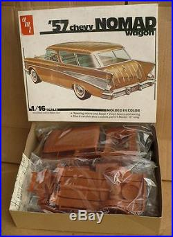 Vintage AMT 1957 Chevy Nomad 1/16th scale model unbuilt complete NICE
