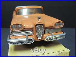 Vintage AMT 1958 Edsel Pacer Hardtop, Snow White over Sunset Coral, MINT IN BOX