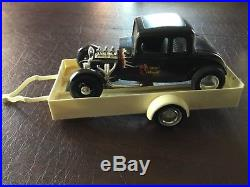 Vintage AMT 1960 Ford Pickup Truck 125 Scale model withtrailer and Hot Rod
