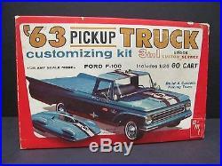 Vintage AMT 1963 Ford F-100 Pick-up Truck Kit Mint Unbuilt Condition! 08-133