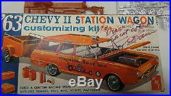 Vintage AMT 1963 the Late George Barris Autographed Chevrolet II Station Wagon