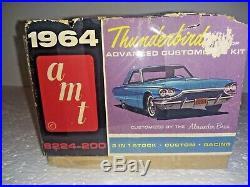 Vintage AMT 1964 Ford Thunderbird Hardtop Model Kit AMT Opened