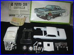Vintage AMT 1965 Chevrolet Chevelle Time Machine AWB Funny Car 6750 For Restore