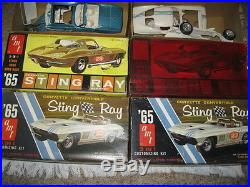 Vintage AMT 1965 Chevrolet Corvette Sting Ray Convertible and Coupe 6915 6925