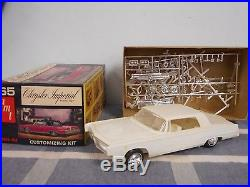 Vintage AMT 1965 Chrysler Imperial Rare Model with Parts & Box Unsure if Complete
