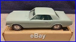 Vintage AMT 1966 Mustang Dealer Promo Model Car in Light Blue Mint Boxed NOS