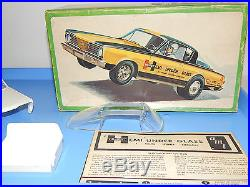 Vintage AMT 1966 Plymouth Barracuda Hurst Hemi Under Glass Funny Car Kit