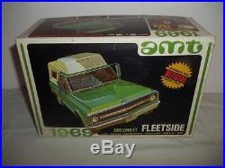 Vintage AMT 1969 Chevy Fleetside Pickup & Canopy Model Kit 1/25 #Y925-200 K6