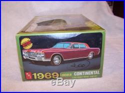 Vintage AMT 1969 Lincoln Continental Model Kit! Factory sealed