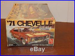 Vintage AMT 1971 Chevy Chevelle SS 454 The Quickie 3 in 1 Model Kit (Lot# 43)