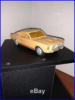 Vintage AMT 1/25 Beige 1967 Ford Mustang Fastback Friction Promo Car Model