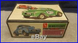 Vintage AMT'40 Willys /'32 Ford Show'N' Go Plastic Model 125 Boxed