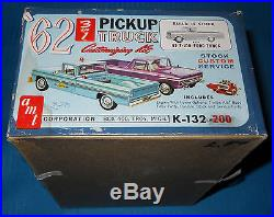 Vintage AMT 62 Ford F-100 Pickup & Trailer 1/25 Scale-K132-Model Car Swap Meet