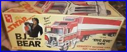 Vintage AMT BJ AND THE BEAR KENWORTH WithTRAILER TRUCK MODEL CAR MOUNTAIN 1/32