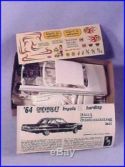 Vintage AMT CHEVROLET'64 IMPALA HARDTOP Customizing Kit GEORGE BARRIS NOS 1964