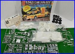 Vintage AMT Funny Car Hauler Crazy Horse Drag Team Model Kit T448 Unbuilt RARE