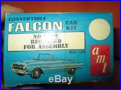 Vintage AMT Jr Series 1963 Ford Falcon Convertible Model Kit #4110-100 125
