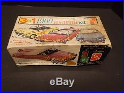 Vintage AMT/ SMP 3 in 1 Model Kit for 1960 Chevrolet Impala Convertible/ Started