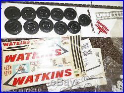 Vintage AMT Schlitz Big Rig Mack Truck Model & Trailer 1/25 Scale Model Kit Lot
