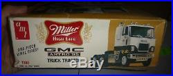 Vintage AMT T558 GMC ASTRO 95 MILLER BEER TRUCK MODEL CAR MOUNTAIN 1/25 COMP